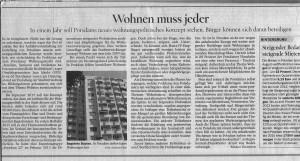 """PNN: """"Wohnen muss jeder"""" (18.09.2014)"""
